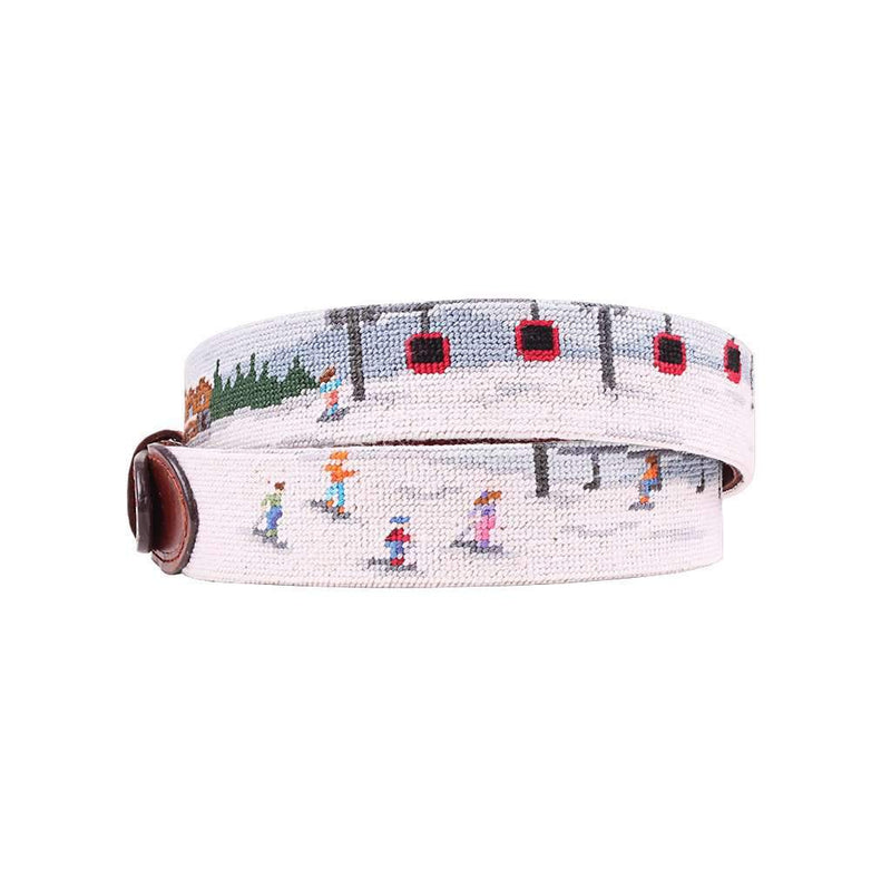 Ski Scene Needlepoint Belt by Smathers & Branson