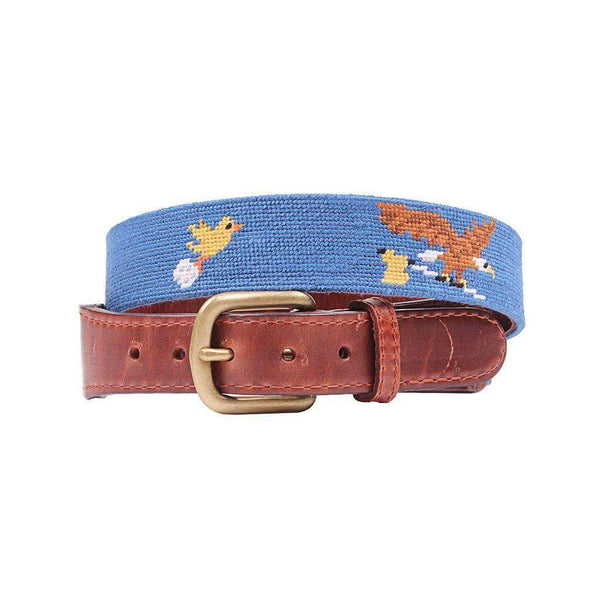 Smathers & Branson Birdie Eagle Albatross Needlepoint Belt in Blueberry