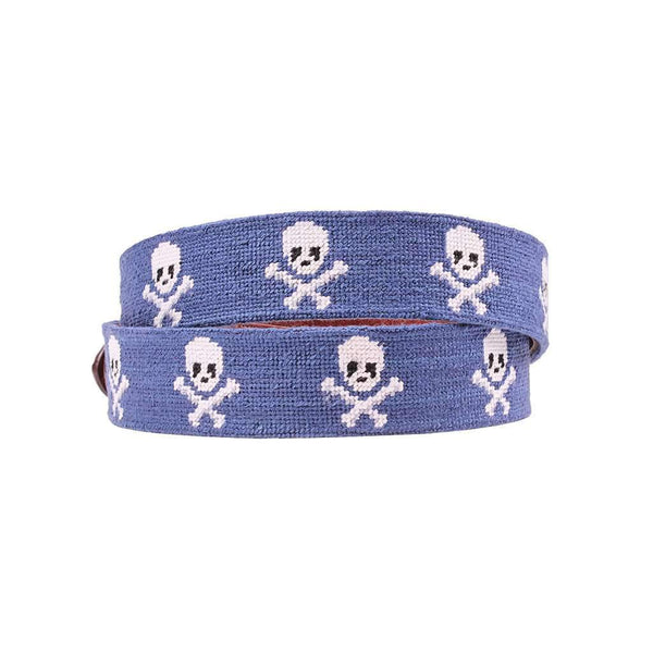 Jolly Roger Needlepoint Belt in Classic Navy by Smathers & Branson