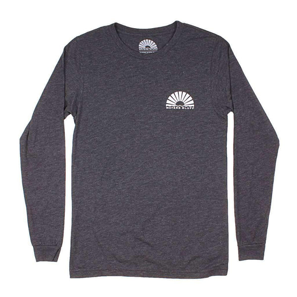 Waters Bluff Minimal Tower Long Sleeve Tee in Bluff Grey Blend