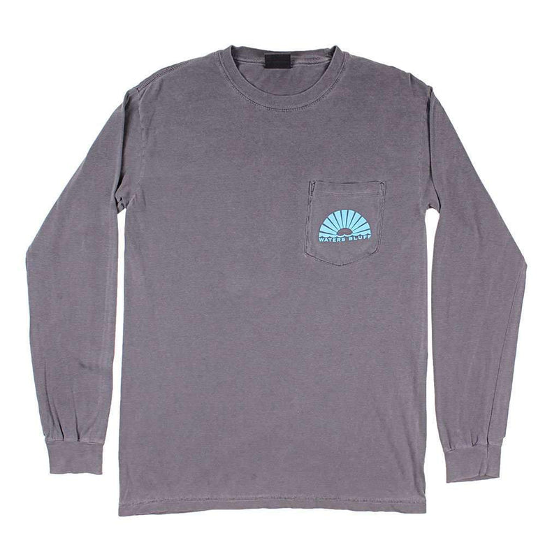 Night Train Long Sleeve Tee in Bluff Grey by Waters Bluff - FINAL SALE