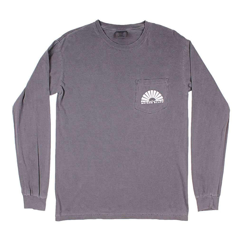 Paddler Long Sleeve Tee in Bluff Grey by Waters Bluff - FINAL SALE