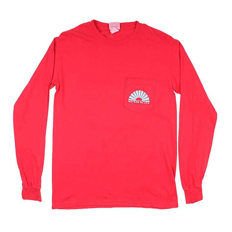 Rayz'd & Confused Long Sleeve Tee in Bright Red by Waters Bluff - FINAL SALE