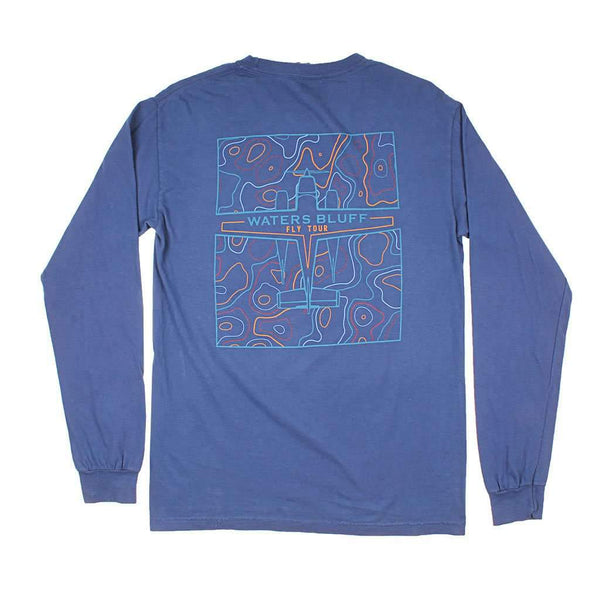 Waters Bluff Fly Tour Long Sleeve Tee in Navy