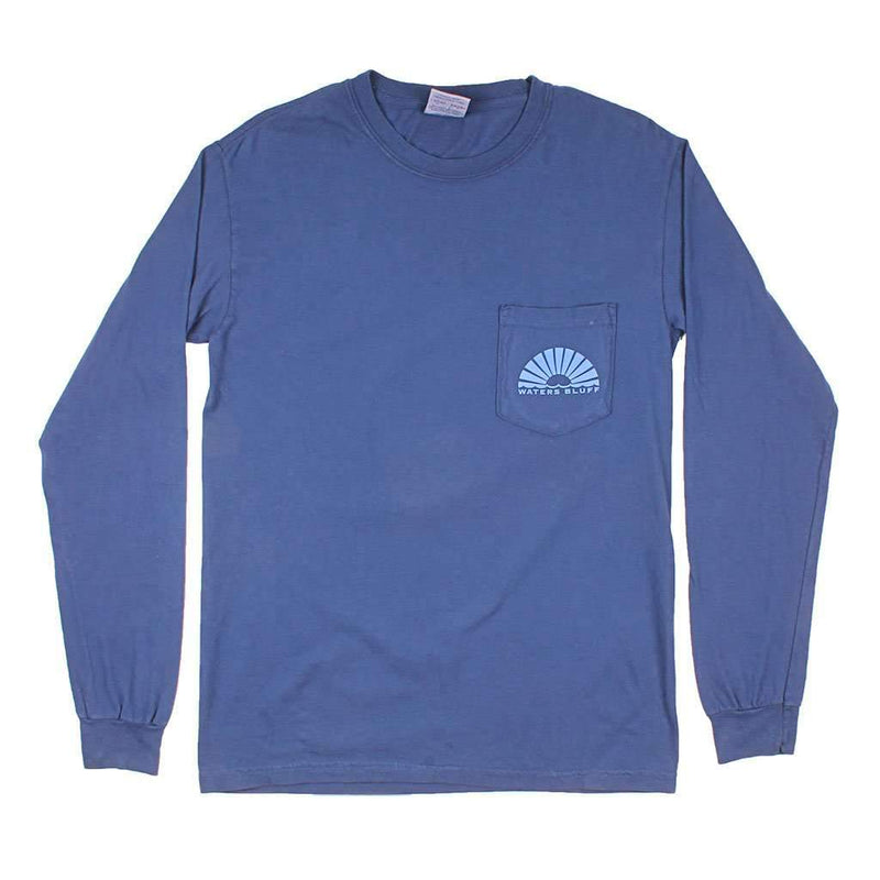 Fly Tour Long Sleeve Tee in Navy by Waters Bluff - FINAL SALE