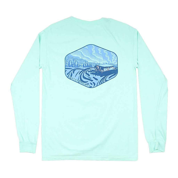 Waters Bluff Under the Neon Long Sleeve Tee in Mint
