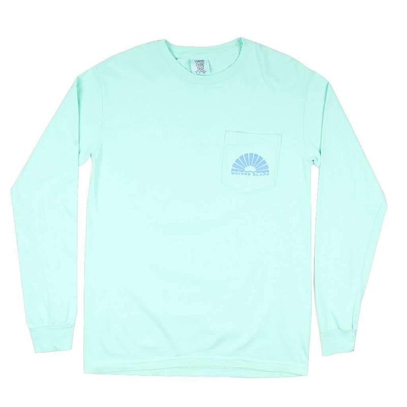 Under the Neon Long Sleeve Tee in Mint by Waters Bluff - FINAL SALE