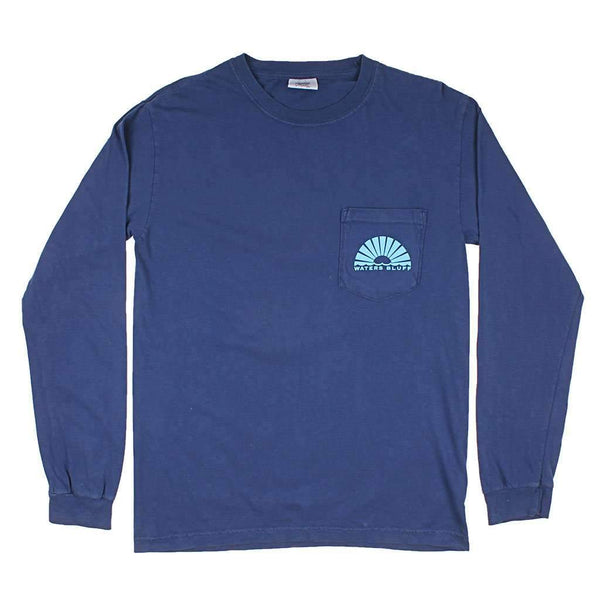 Waters Bluff Traveler Long Sleeve Tee in Navy