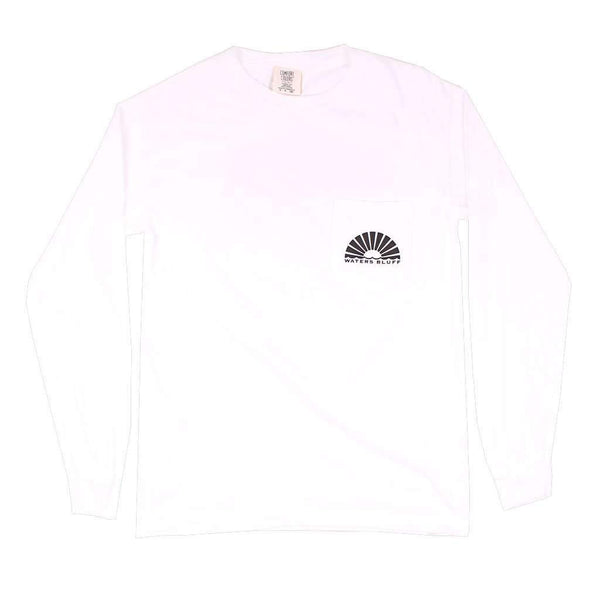 Waters Bluff Midnight Tower Long Sleeve Tee in White
