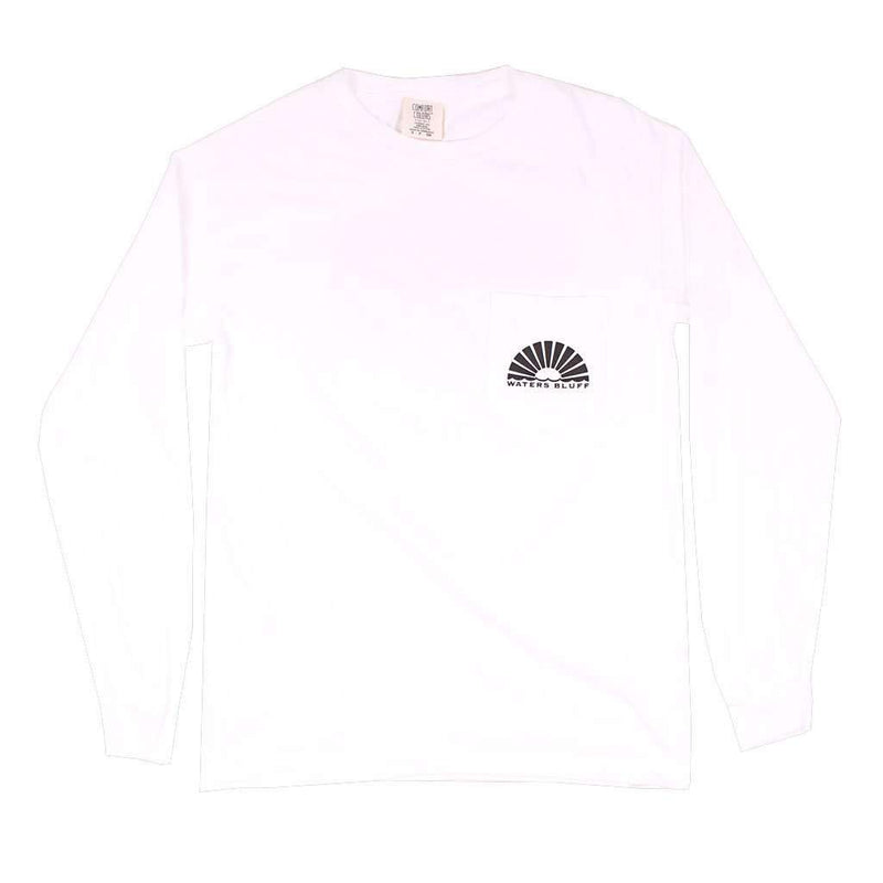 Midnight Tower Long Sleeve Tee in White by Waters Bluff - FINAL SALE
