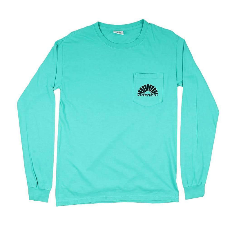 Midnight Tower Long Sleeve Tee in Teal by Waters Bluff - FINAL SALE