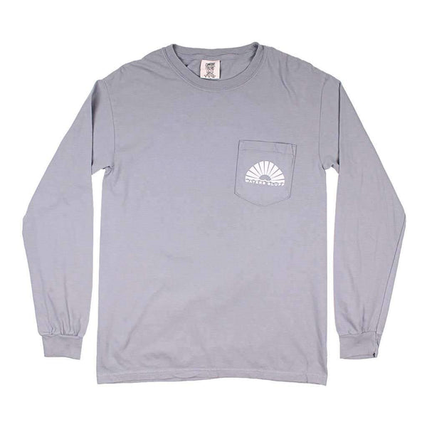 Waters Bluff Fisher Long Sleeve Tee in Grey