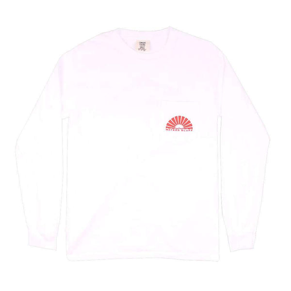 Waters Bluff Wake n Bait Long Sleeve Tee in White by Waters Bluff