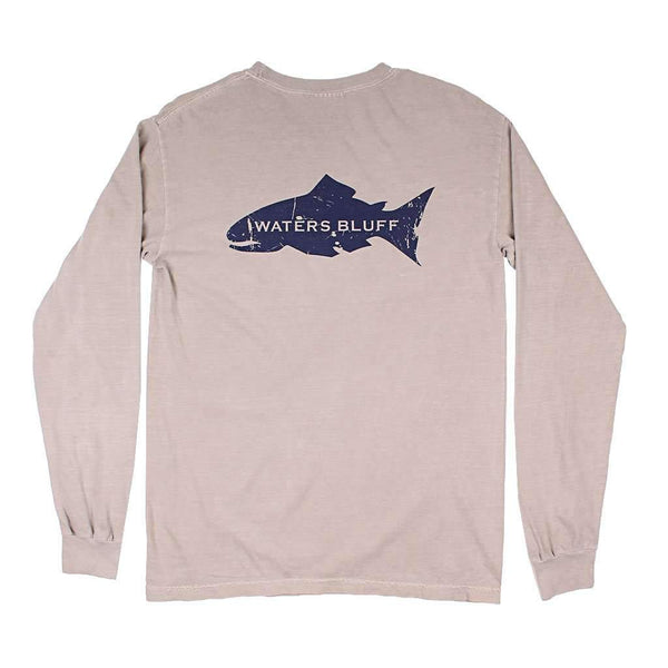 Waters Bluff Scarfish Long Sleeve Tee in Nude Blend