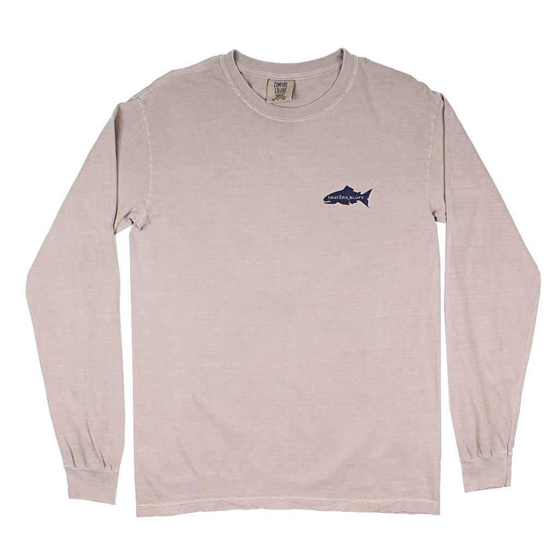 Scarfish Long Sleeve Tee in Nude Blend by Waters Bluff - FINAL SALE