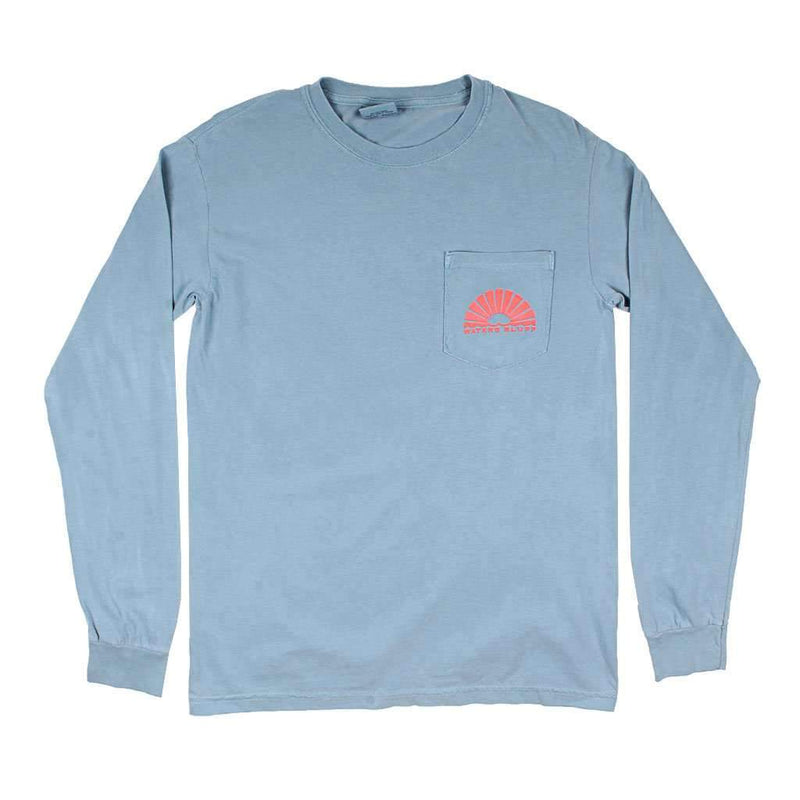 Wake N' Bait Long Sleeve Tee in Chill Blue by Waters Bluff - FINAL SALE