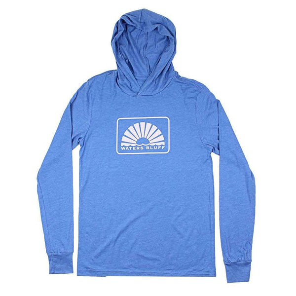 Waters Bluff Logo Front Hoodee in Chill Blue Blend
