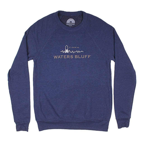 Waters Bluff Small Town USA Reggie Sweatshirt in Navy Triblend