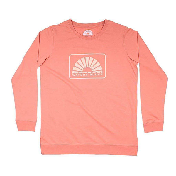 Waters Bluff Boxy Logo Reggie Sweatshirt in Clay