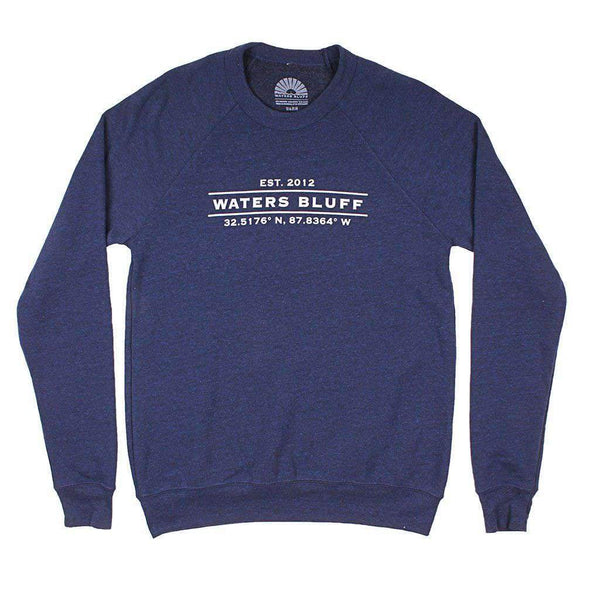 Waters Bluff Coordinates Reggie Sweatshirt in Navy Triblend
