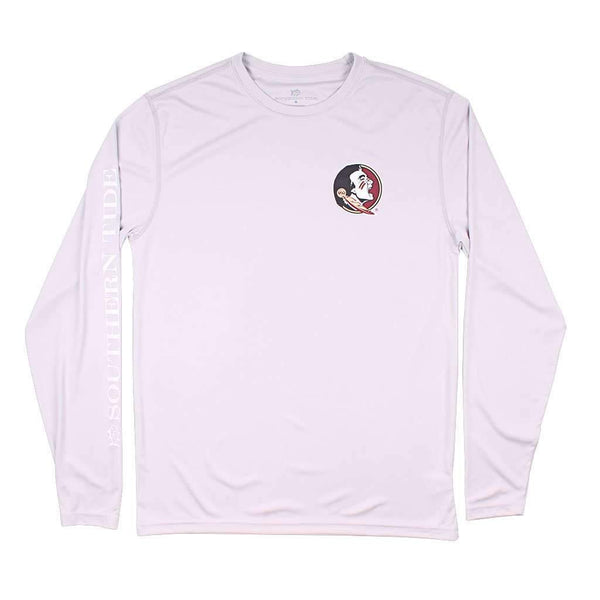 Southern Tide Florida State Gameday Long Sleeve Performance Tee in Harpoon