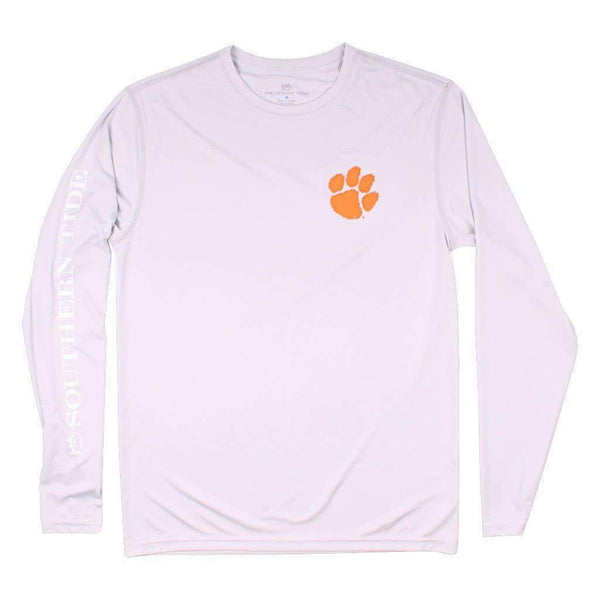 Southern Tide Clemson Gameday Long Sleeve Performance Tee in Harpoon