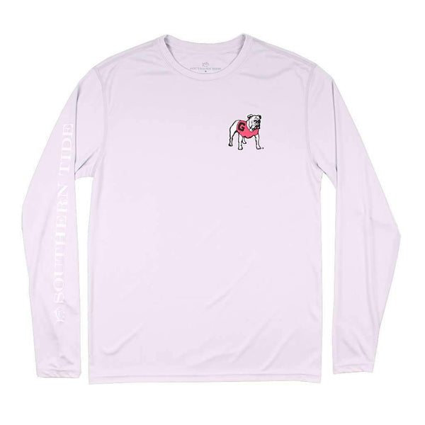 Southern Tide Georgia Gameday Long Sleeve Performance Tee in Harpoon