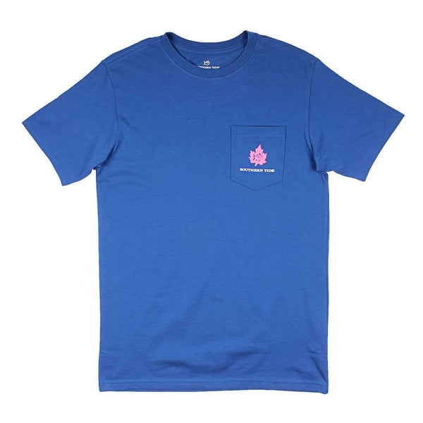 Southern Tide Women's Short Sleeve Fall Leaves Skipjack Tee in Blue Cove