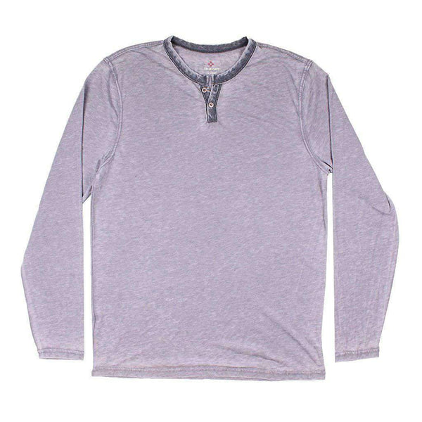 True Grit Burnout Long Sleeve Slit Tee in Vintage Grey