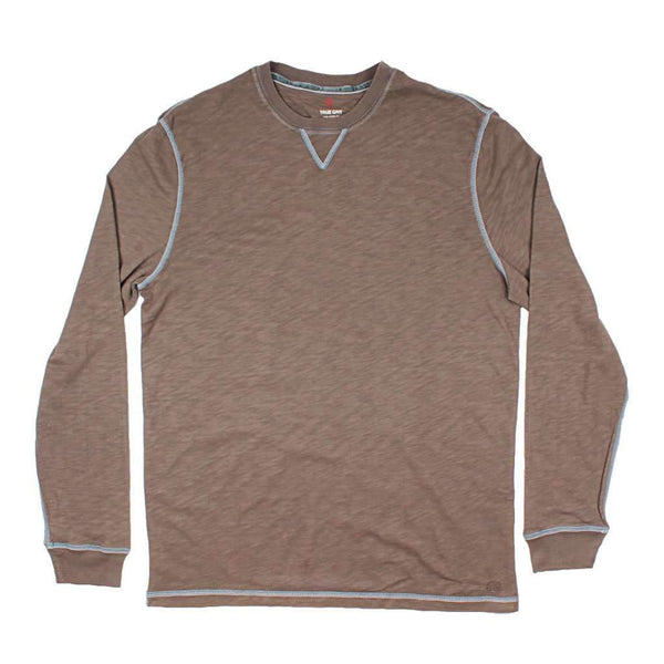 True Grit Long Sleeve Heritage Slub Crew in Jeep