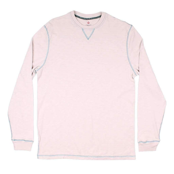 True Grit Long Sleeve Heritage Slub Crew in Smoke