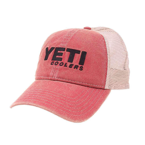 YETI Washed Low Pro Trucker Hat in Red