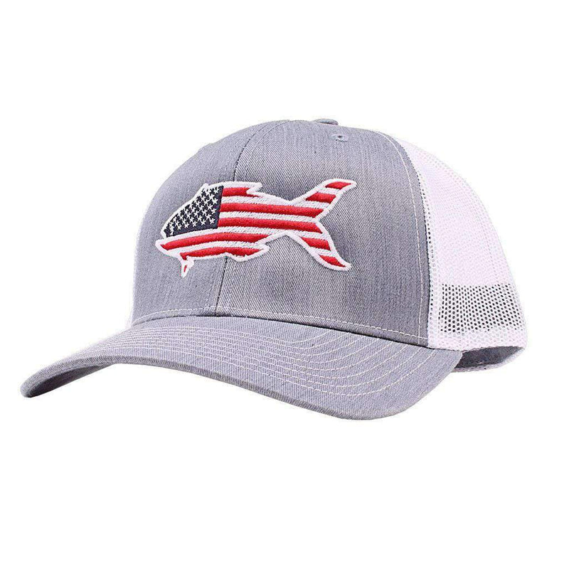 American Flag Snapper Hat in Grey by Southern Snap Co.