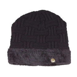 Sherpa Lined Beanie in Black by Simply Southern