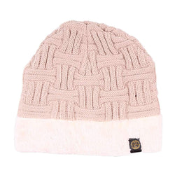 Sherpa Lined Beanie in Beige by Simply Southern