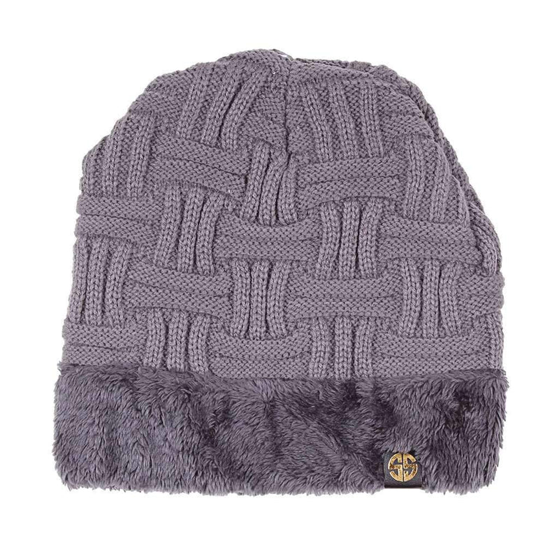 Sherpa Lined Beanie in Grey by Simply Southern