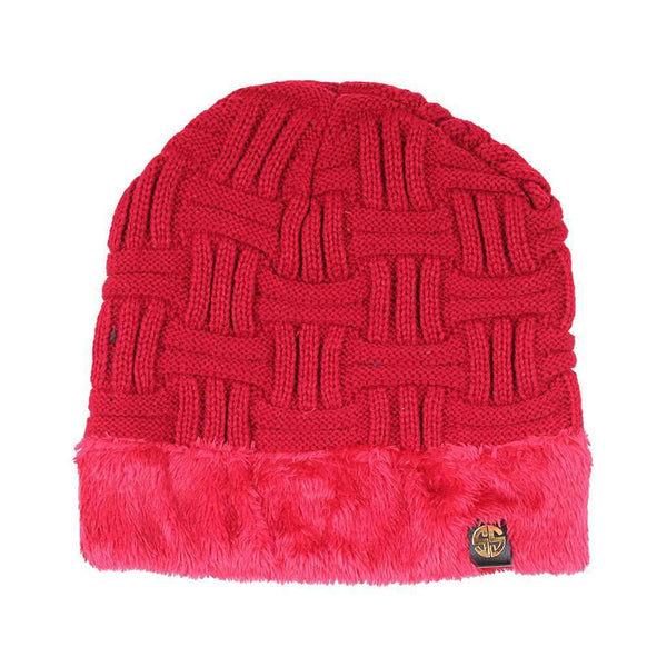 Sherpa Lined Beanie in Scarlet by Simply Southern f32be8b6cd4d