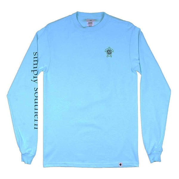 Simply Southern Long Sleeve Jack Logo Tee in Marine by Simply Southern
