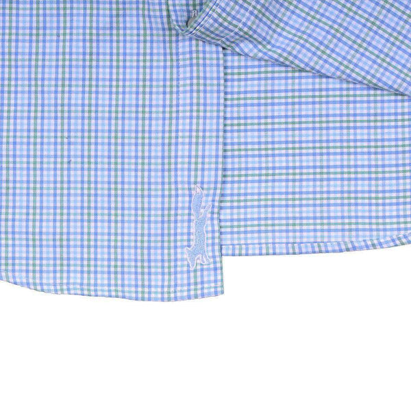 Boldwater Plaid Performance Slim Tucker Shirt in Starboard Green by Vineyard Vines