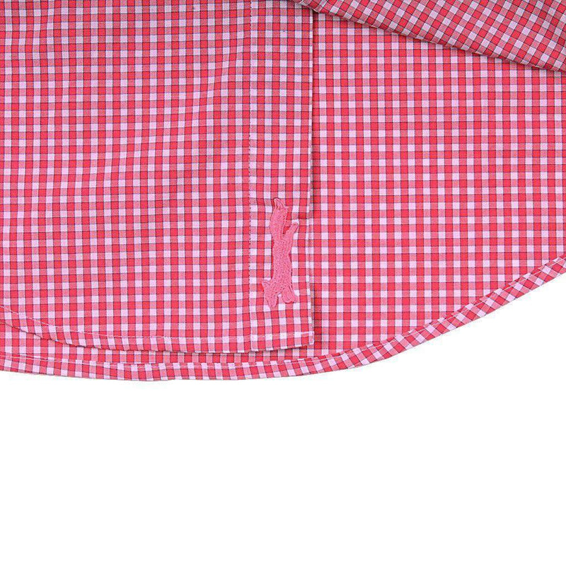 Buttonbush Check Slim Murray Shirt in Sailors Red by Vineyard Vines
