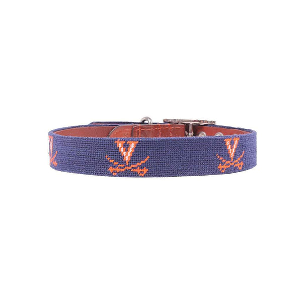 University of Virginia Needlepoint Dog Collar by Smathers & Branson
