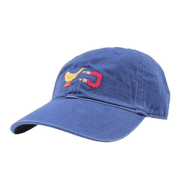 Smathers & Branson Chick Magnet Needlepoint Hat in Navy