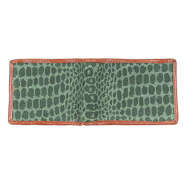 Smathers & Branson Alligator Skin Needlepoint Wallet