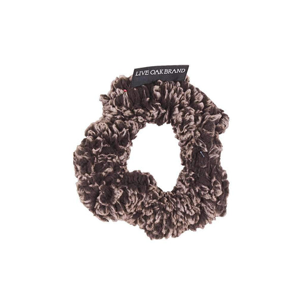 Live Oak Fleece Scrunchie in Charcoal
