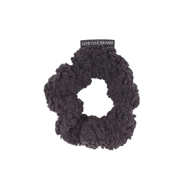 Live Oak Purple Fleece Scrunchie in Black