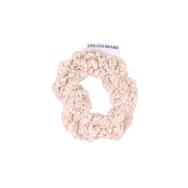 Live Oak Fleece Scrunchie in Oatmeal