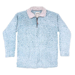True Grit (Dylan) Frosty Tipped Women's Stadium Pullover in Aqua