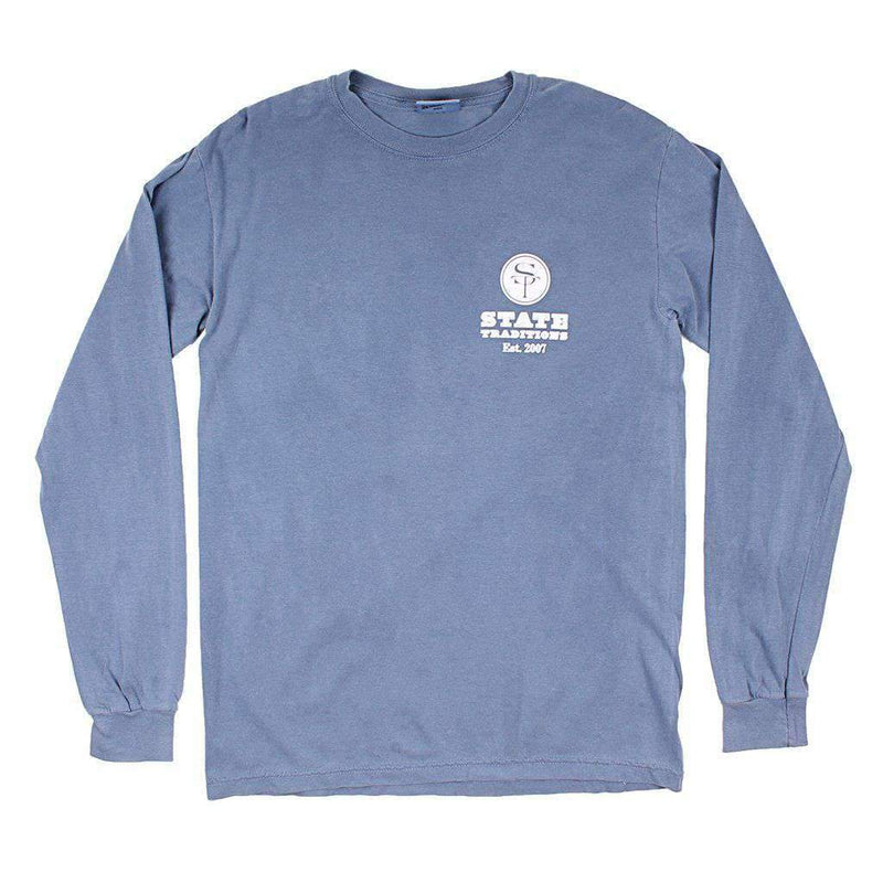 AL Auburn Traditional Long Sleeve T-Shirt in Blue by State Traditions