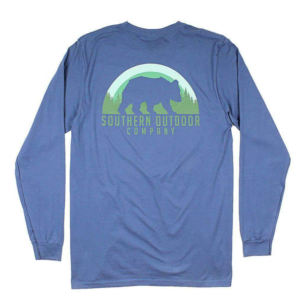 Southern Outdoor Co. Bear Long Sleeve Tee in Navy