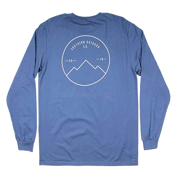 Southern Outdoor Co. Seal Logo Long Sleeve Tee in Navy